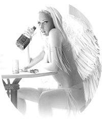 angel round 200 black white